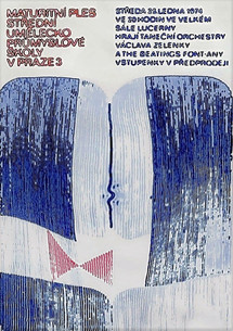 SUPŠ Praha, návrh plakátu, 1974