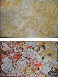 základní stavy v průběhu malby