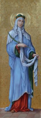 Sv. Ludmila - hypotetická rekonstrukce původní malby