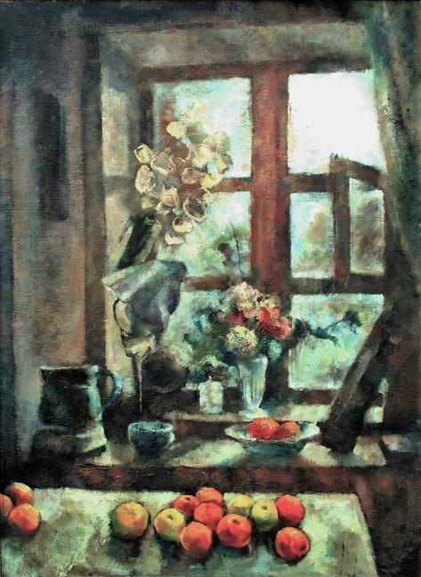 okno, olej, plátno, 1977