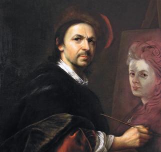 kopie - rozmalovaný portrét ženy