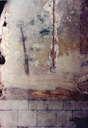 stav odkryté malby před transferem