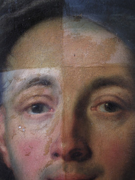 postupné snímání laku a retuší - detail