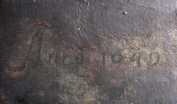 stav po restaurování - odkrytá datace
