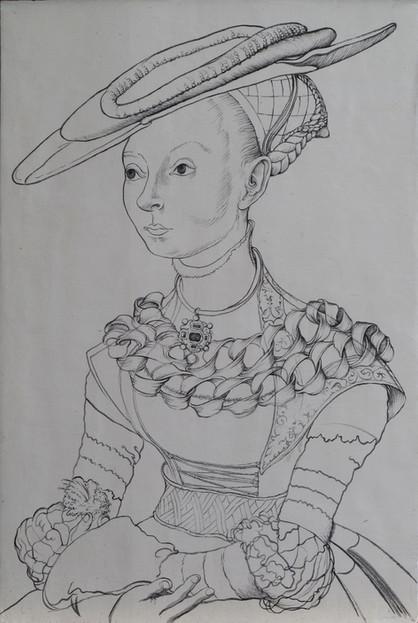 L. Cranach st. (dílna), Dáma s kapradím
