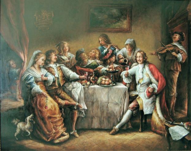 R. Klouza, Car Petr Veliký na svatební hostině