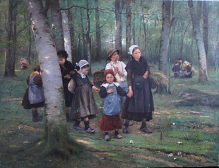 V. Brožík, Děti v lese