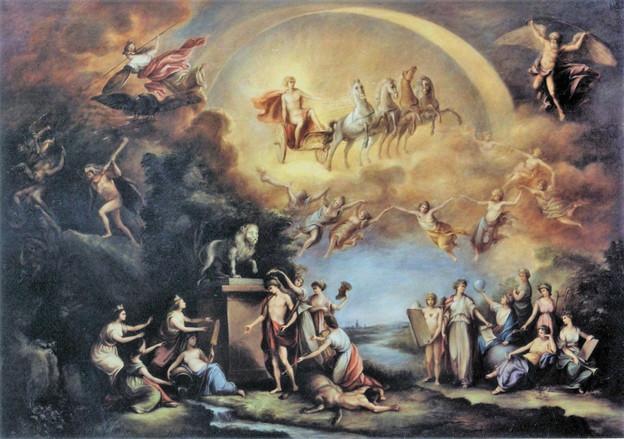 J. Bergler, mytologická alegorie