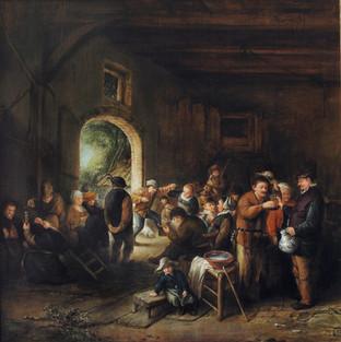 A. van Ostade, Tanec ve stodole