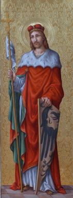 Sv. Václav - hypotetická rekonstrukce původní malby