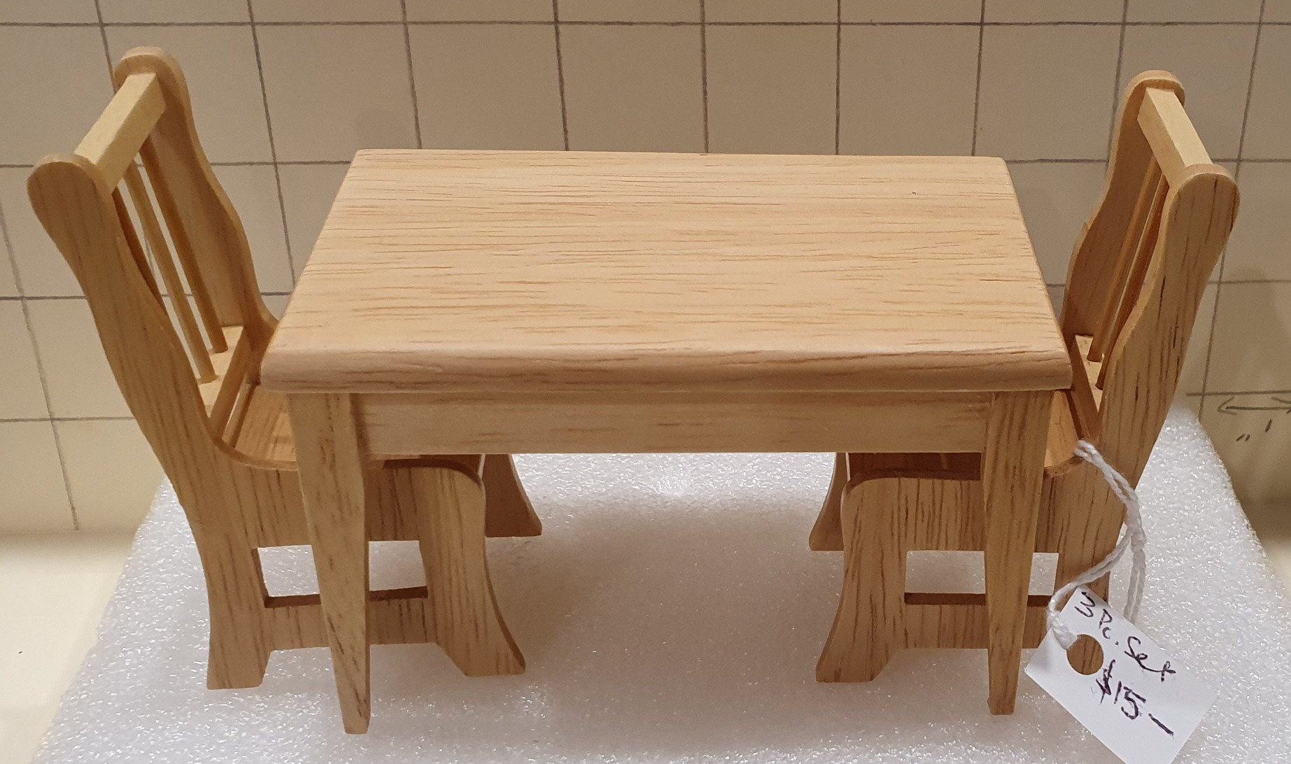 TABLE & 2 CH OAK $15 set