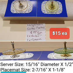 Cake Plates, Amber or Green
