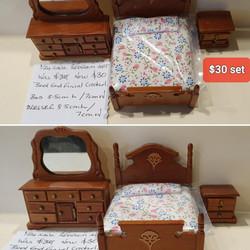1/24 Bedroom Set $30