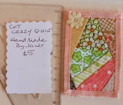 Cot size Quilt - Peach $5