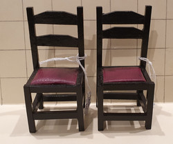 """Chair Bl w """"leather"""" seat $5 ea"""