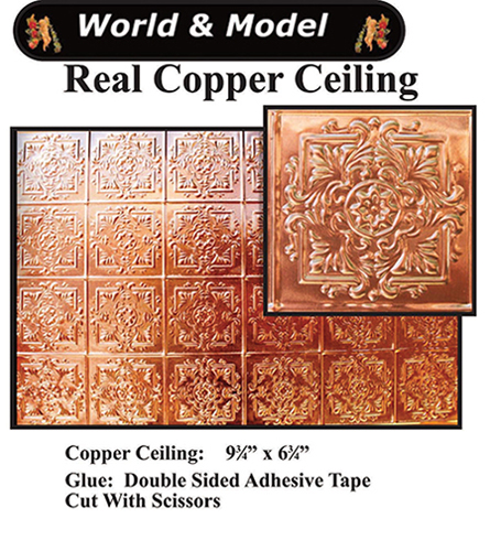 Copper Ceiling, 1 Pce, $55