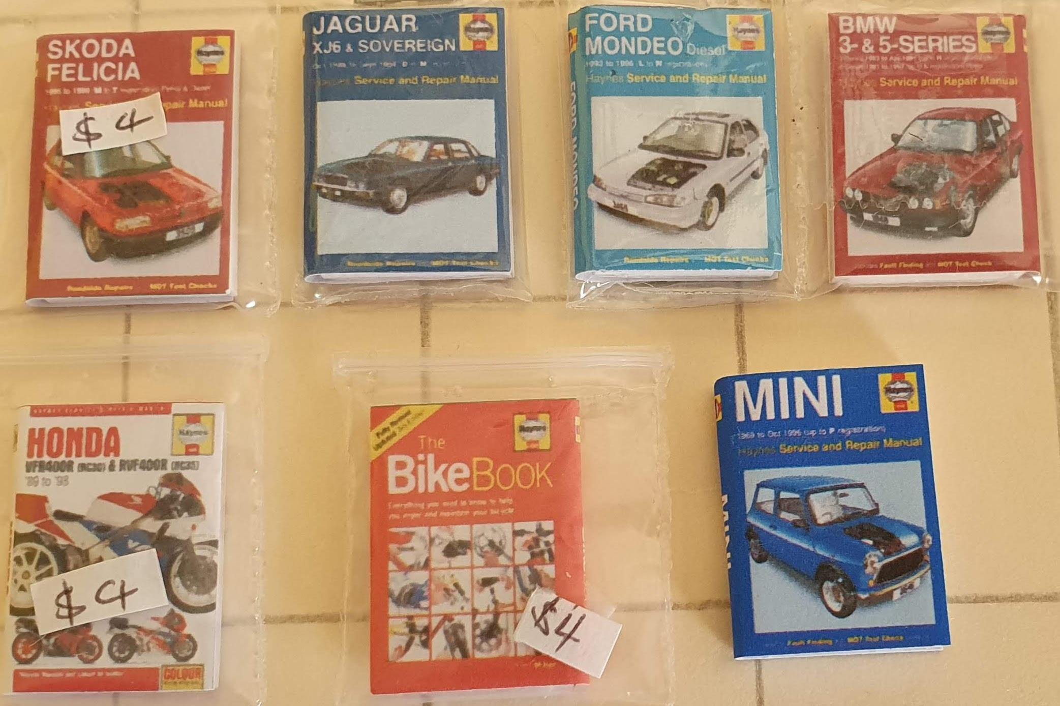 Car Manuals $4 ea