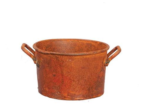 Round Wash Tub/Rust, $14