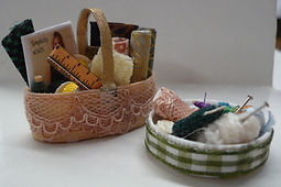 Hand Made Mini Sewing Baskets