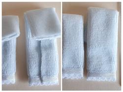 Towel Set, 2 pce, Blue, $6