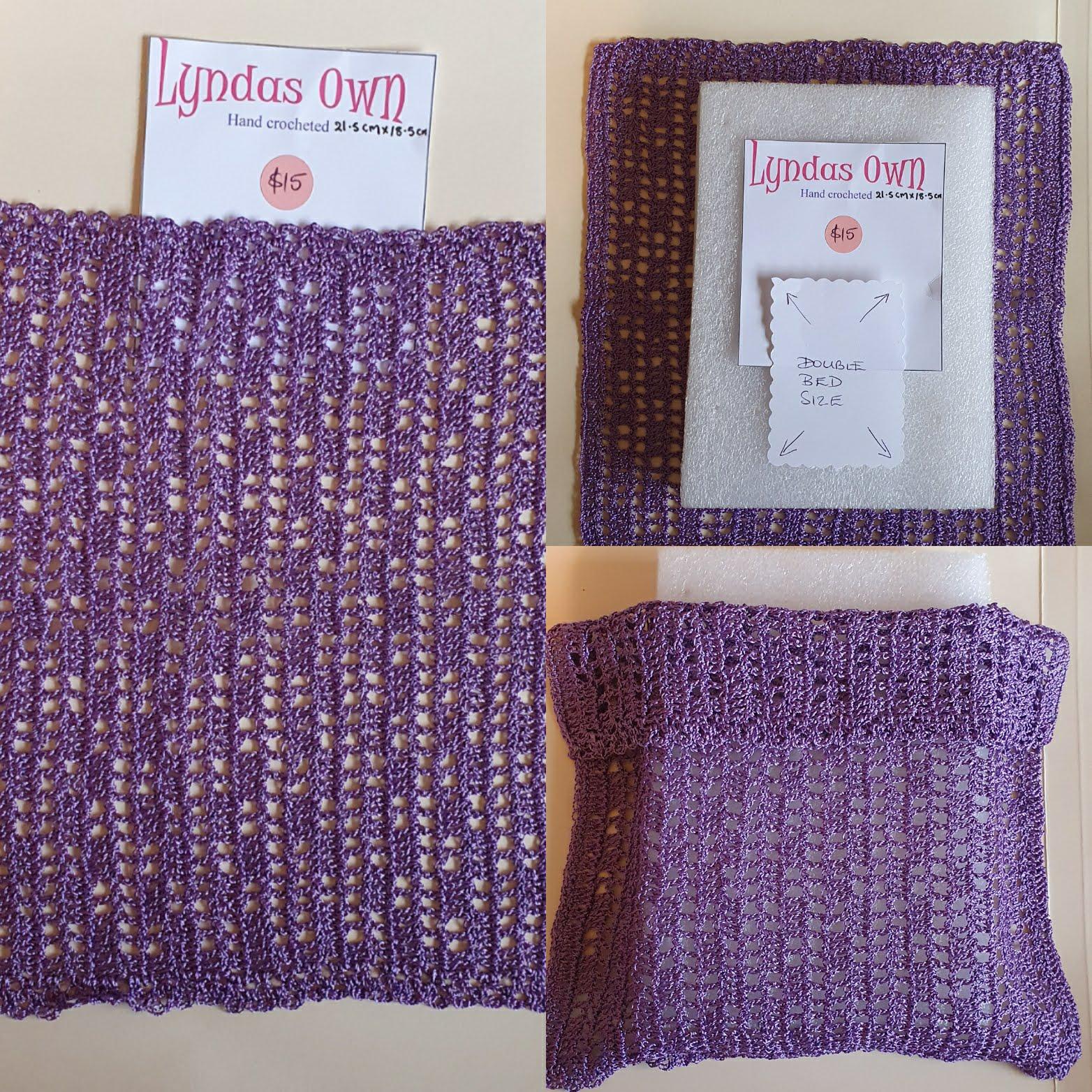 Crochet D/bd Cover , Lilac $15
