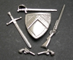 1/24 Sh'ld&sword $10/Sword $5/Gun $5/Pr Pistols $9