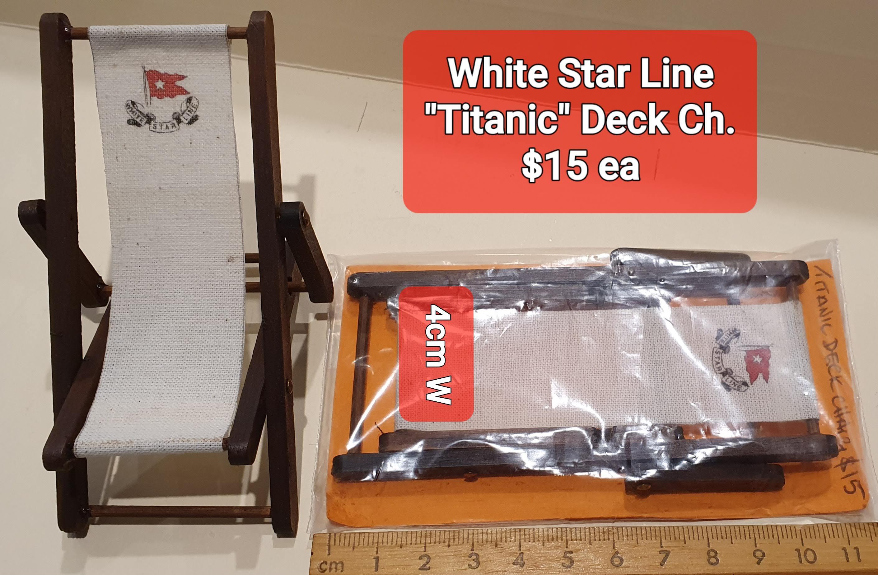 """Titanic"" Deck Chairs, $15 ea"