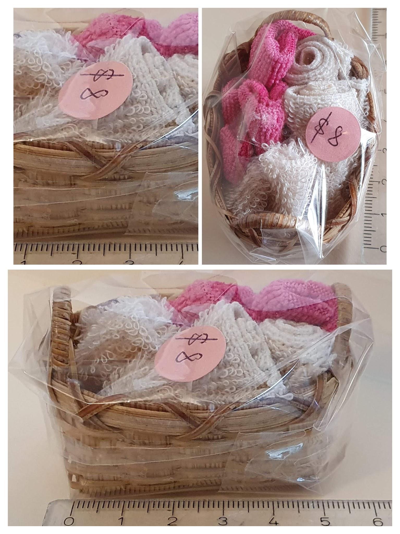 Laundry basket w towels $8