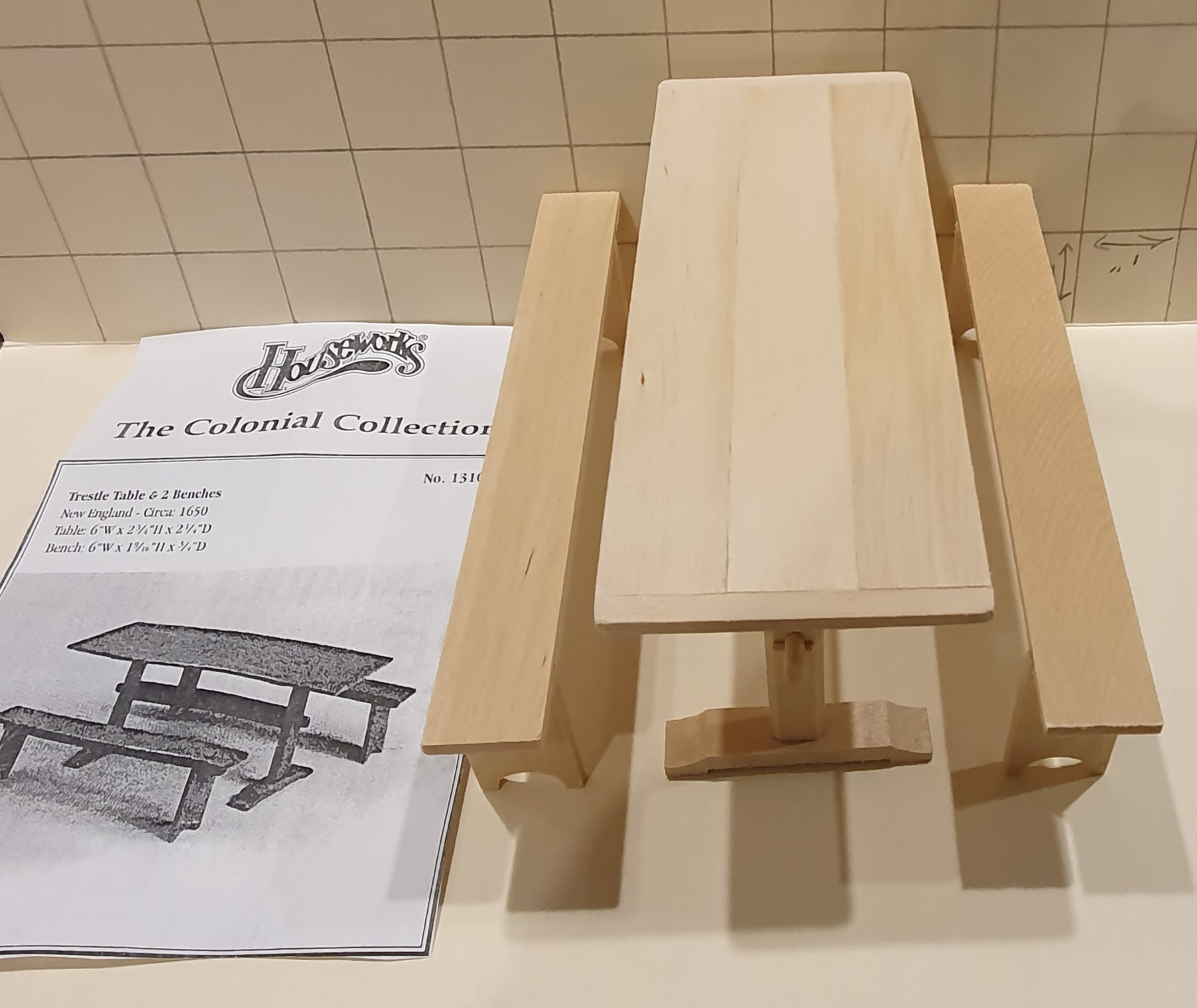 HW13106 Trestle table (kit) $25