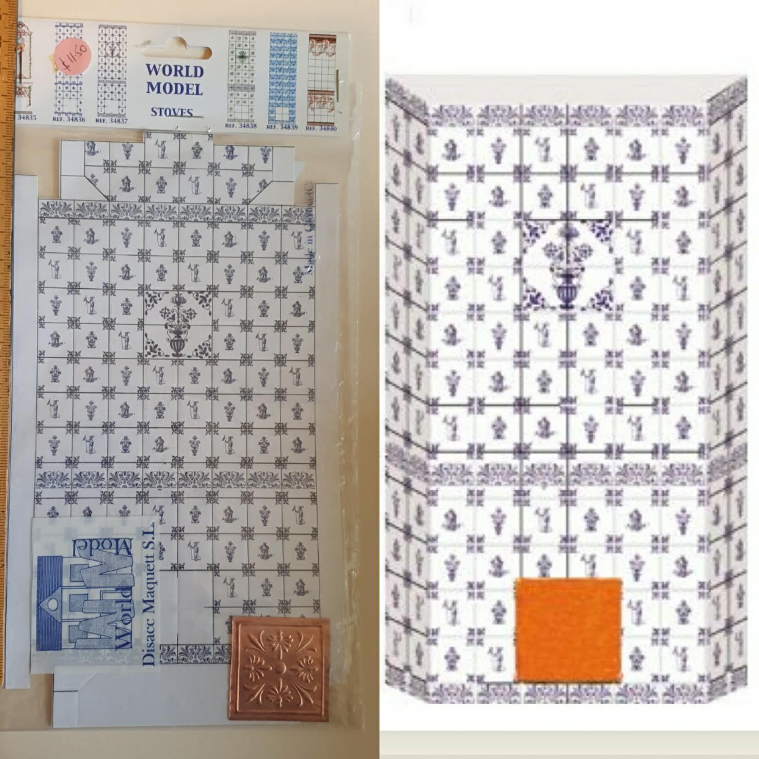 Stove Tiles - Blue $11.50