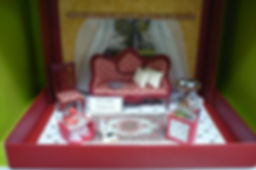 Dolls House Miniatures - Red Cottage, Shoe Box Lane