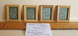 Framed Cigarette Cards $10.50 ea