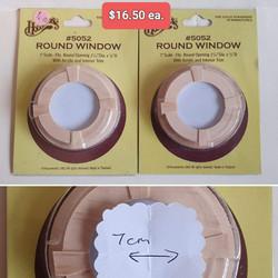 Round Windows $16.50 ea