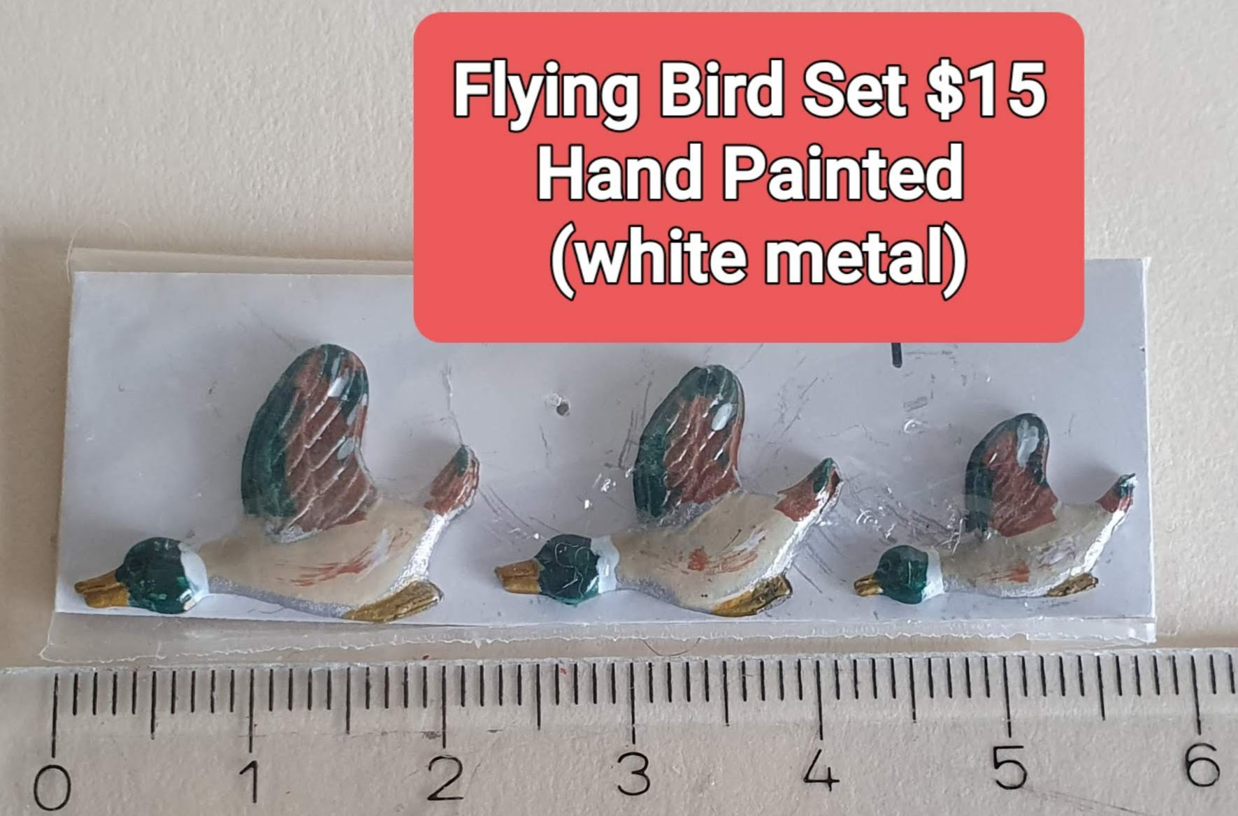 3 Flying Ducks, $15