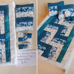 D/bd Quilt Set, Blue/white $15