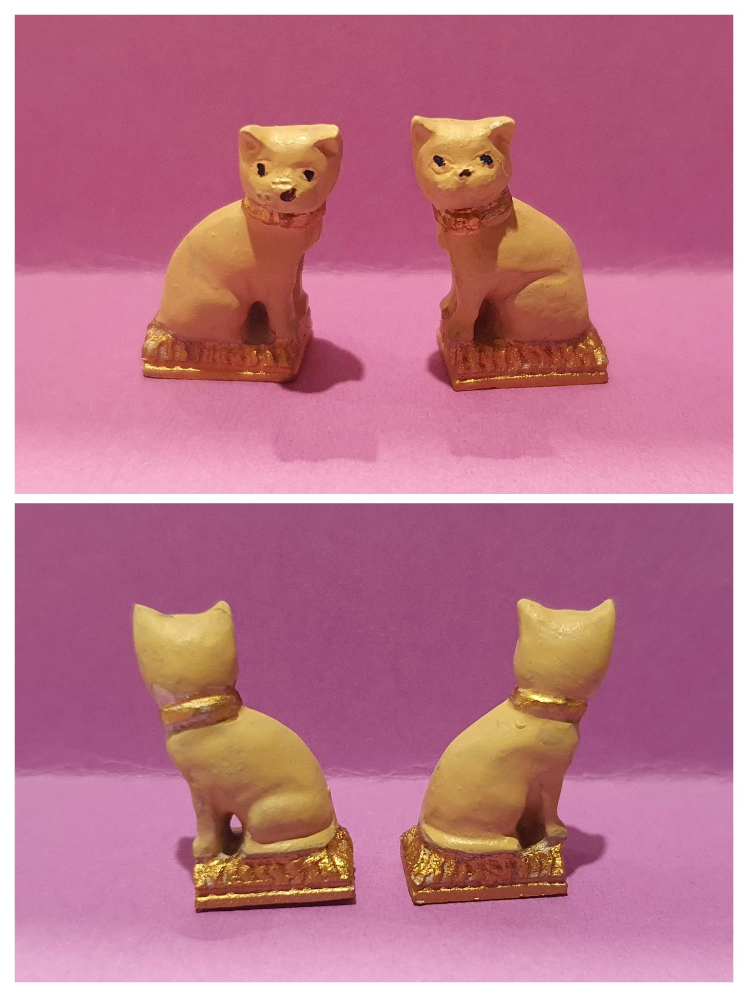"""Staffordshire"" Cats, pr $20"