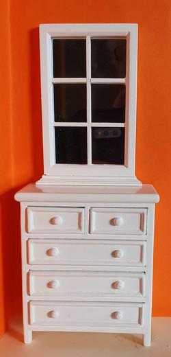 D1361 Dresser & Mirror (2pcs) $16