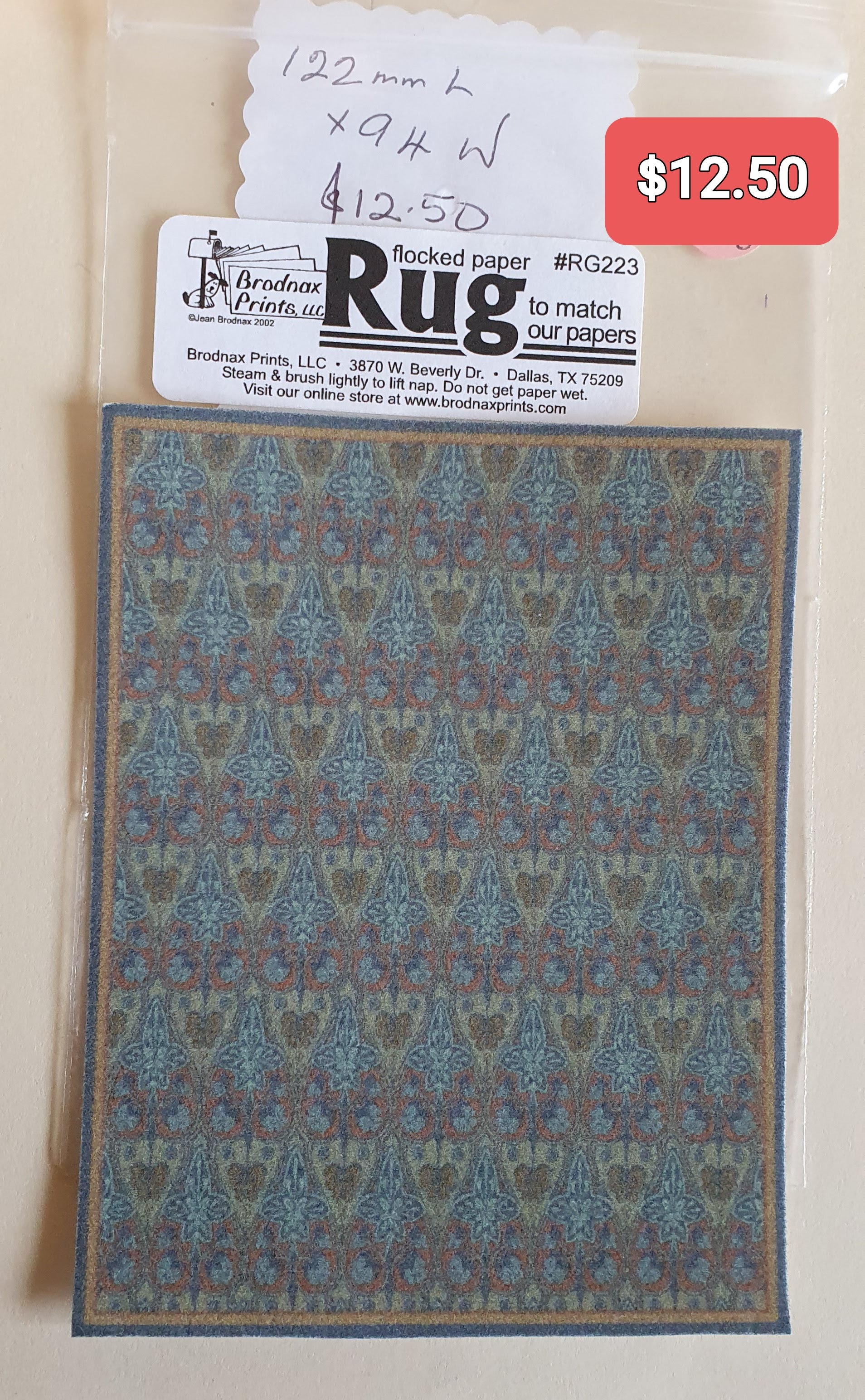 Wm Morris Design Rug Sm