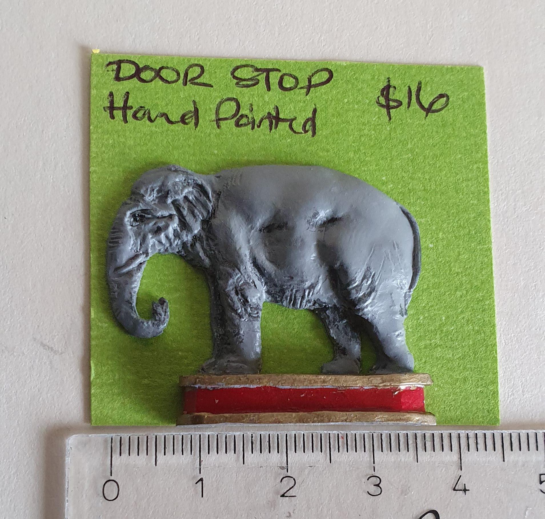Elephant Door Stop, $16