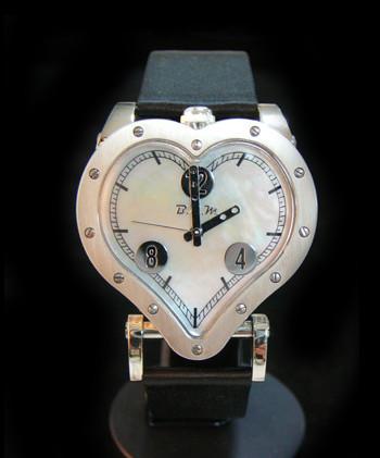 Heart Nacre and diamonds Price on demand