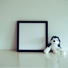 wardrobe with a soft teddy dog. Nursery Wall Art