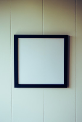Square Blank Art Display Frame Mockup / Template Free stock images