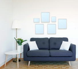 5 frames on the wall mockup