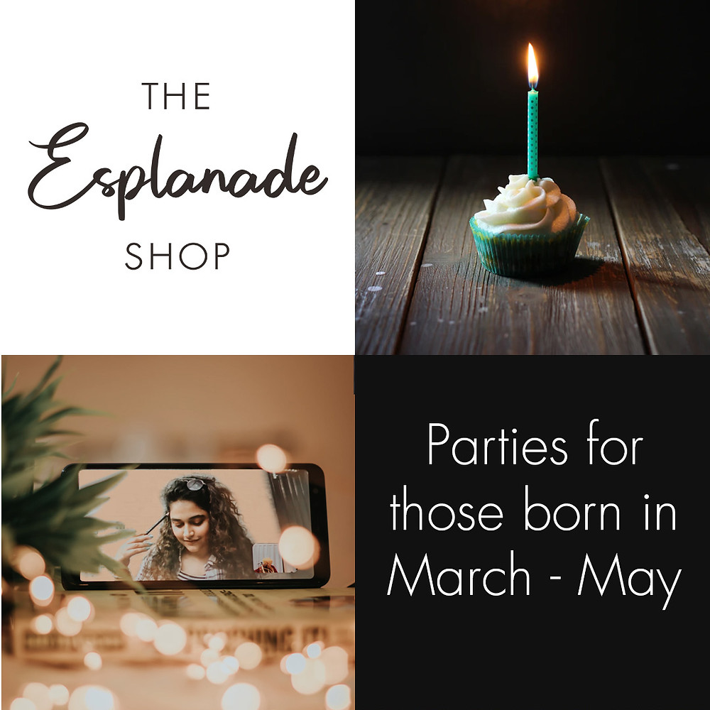 the esplanade shop, birthday, cupcake, celebration, facetime, party, March, April, May, Coronavirus, Covid-19