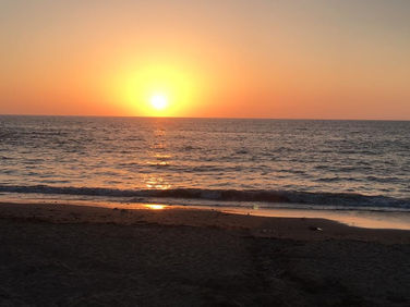 Sunset over Llangrannog
