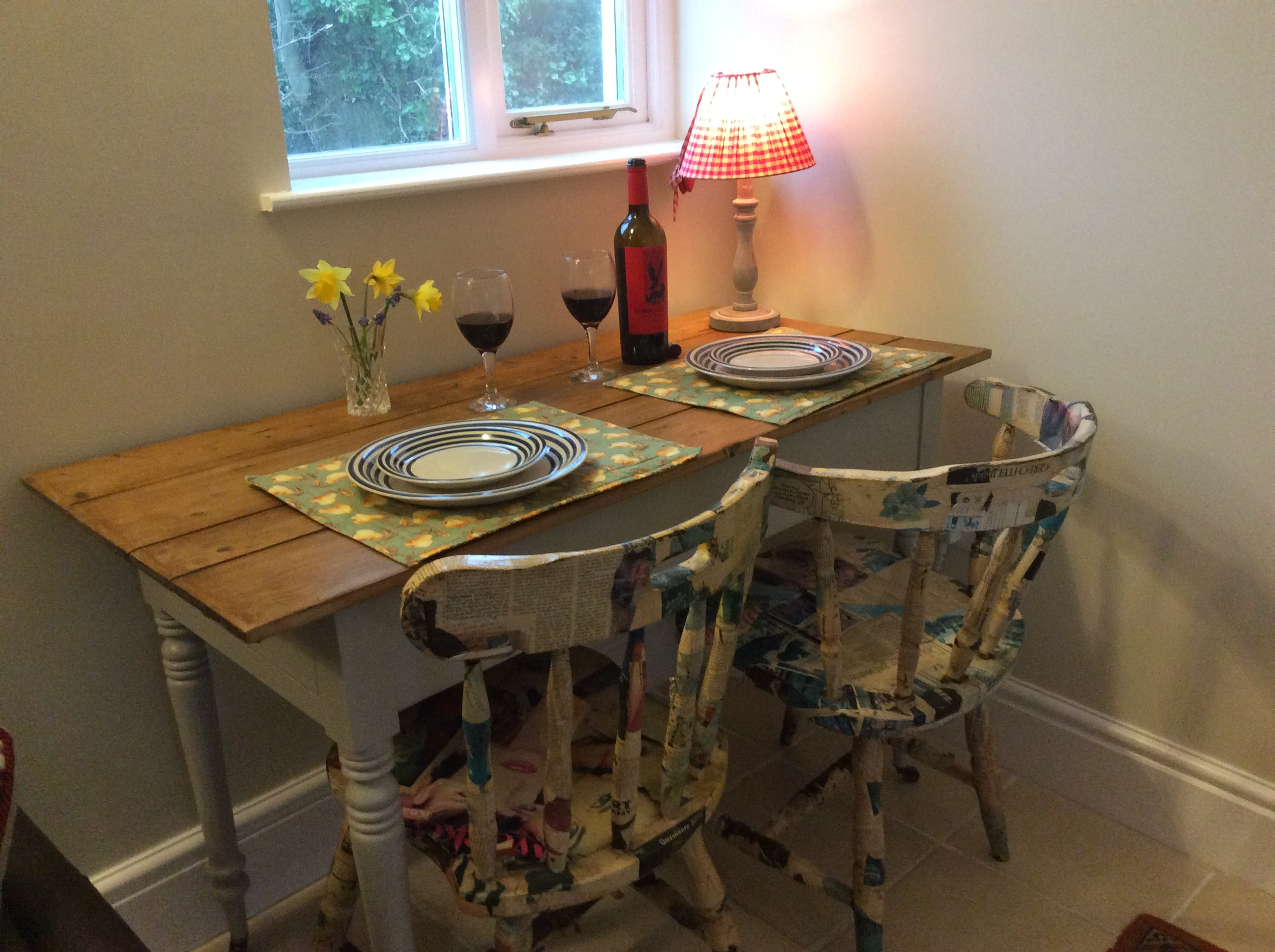 Upcycled dining table & chairs