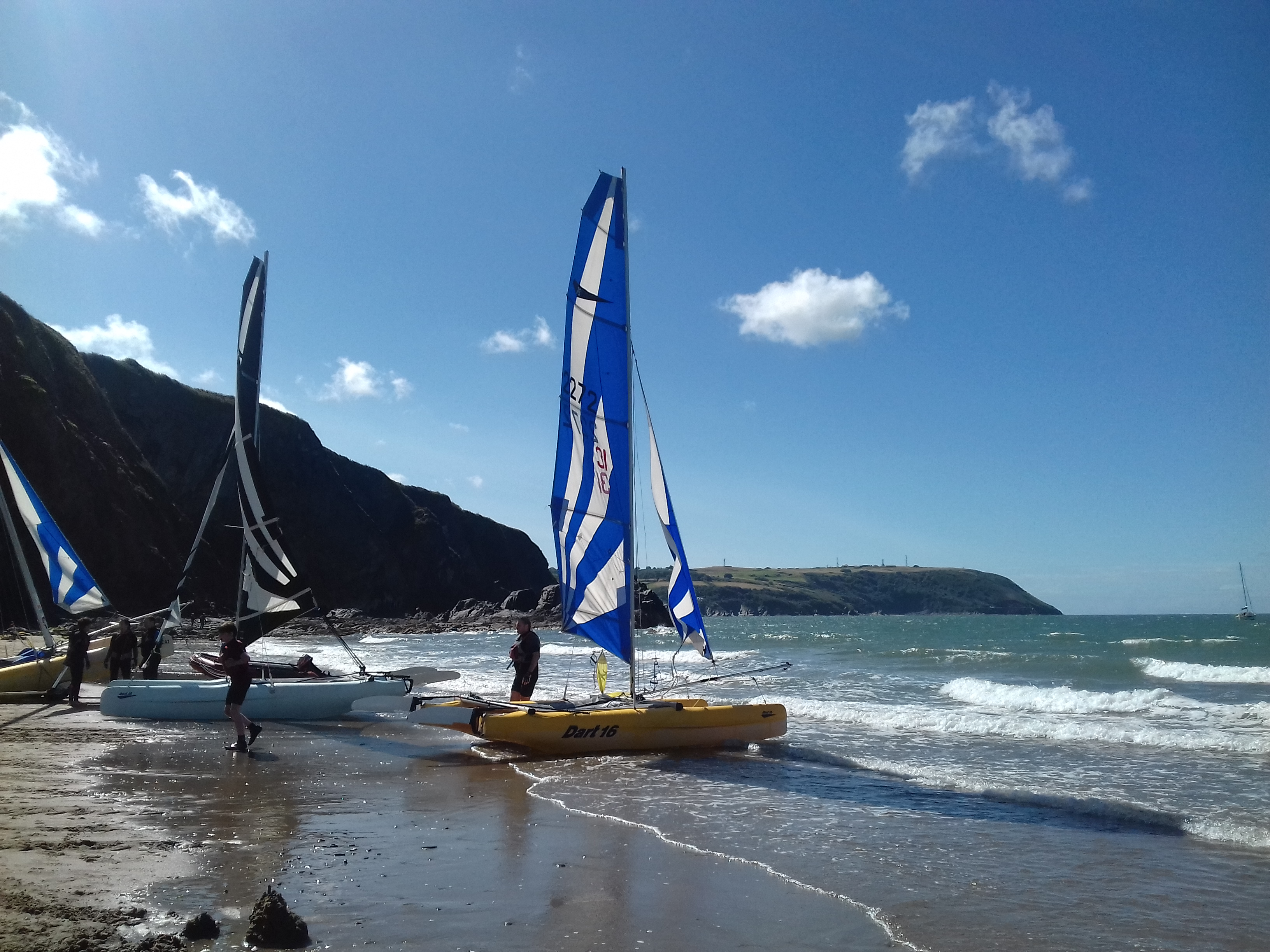 Sailing at Tresaith