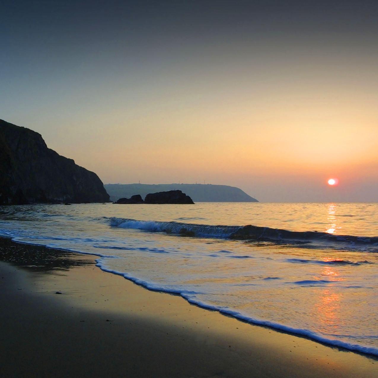 Sunset over Tresaith