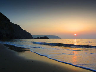 Sunset over Tresaith