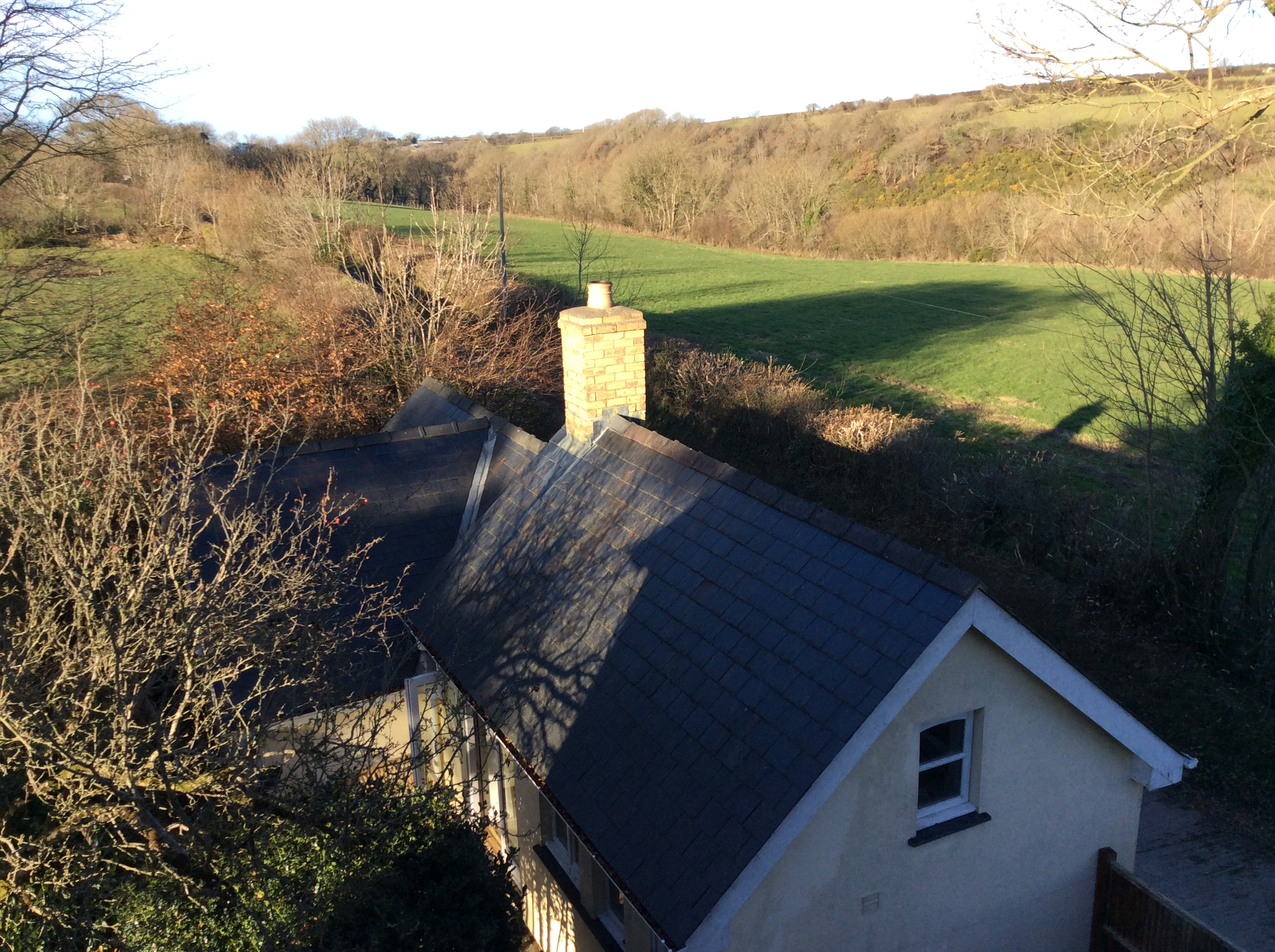 View of The Cwtch from our house